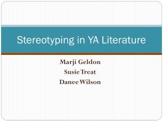 Stereotyping in YA Literature