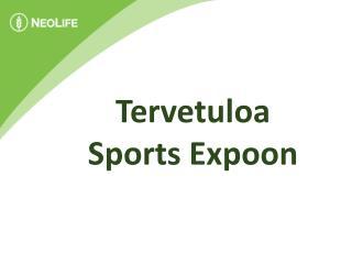 Tervetuloa  Sports  Expoon