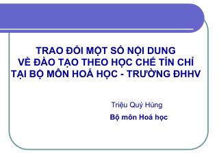 TRAO  I MT S NI DUNG  V   O TO THEO HC CH T N CH TI B M N HO  HC - TRUNG  HHV