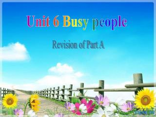 Unit 6 Busy people