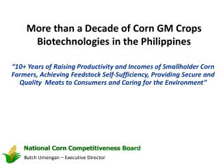 More than a Decade of Corn GM Crops  Biotechnologies in the Philippines
