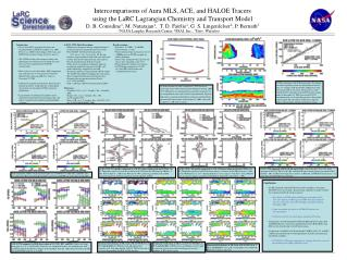 Intercomparisons of Aura MLS, ACE, and HALOE Tracers