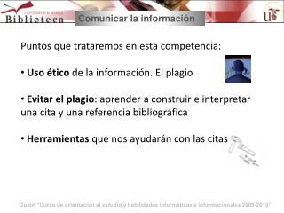 Comunicar la información