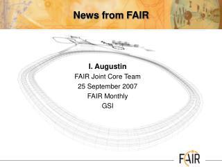 News from FAIR