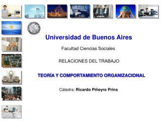 Universidad de Buenos Aires Facultad Ciencias Sociales