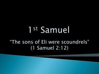 1 st  Samuel