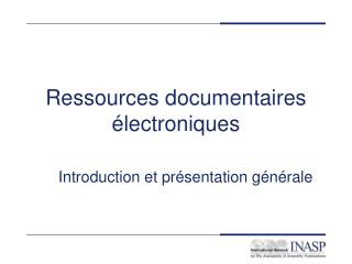 Ressources documentaires �lectroniques