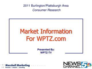 2011 Burlington/Plattsburgh Area Consumer Research