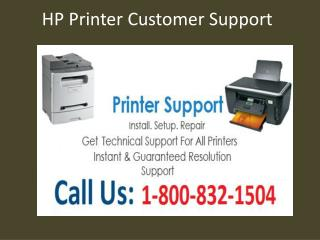 1-800-832-1504 HP Printer Tech Support | Toll Free Number