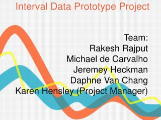 Interval Data Prototype Project