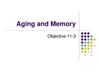 Aging and Memory