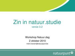 Zin in natuur.studie versie 3.2