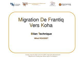 Journée logiciels libres du 23/11/2007 (Agropolis International)