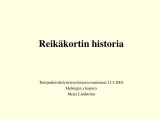 Reikäkortin historia