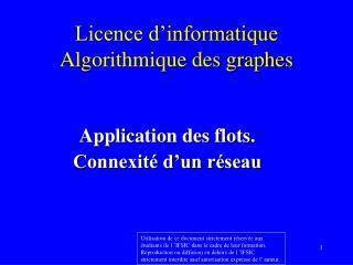 Licence d'informatique Algorithmique des graphes