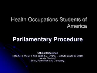 Health Occupations Students of America