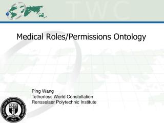 Medical Roles/Permissions Ontology