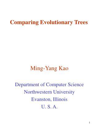 Comparing Evolutionary Trees