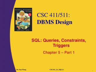 SQL: Queries, Constraints, Triggers Chapter 5 � Part 1