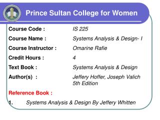Prince Sultan College for Women