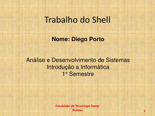 Trabalho do Shell