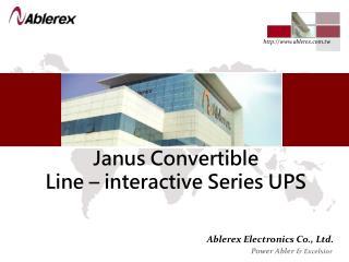 Janus Convertible  Line – interactive Series UPS