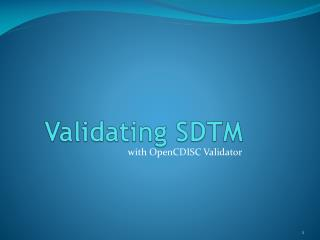 Validating SDTM