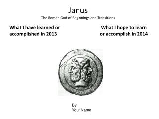 Janus  The Roman God of Beginnings and Transitions