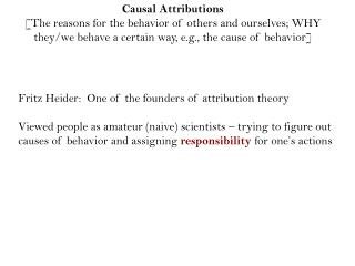 Causal Attributions
