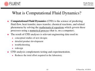 What is Computational Fluid Dynamics