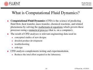 What is Computational Fluid Dynamics