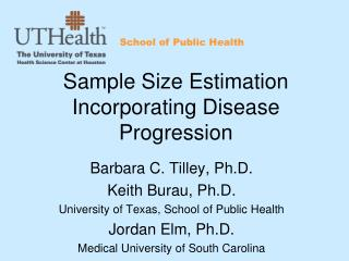 Sample Size Estimation Incorporating Disease Progression