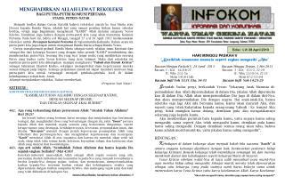 Edisi :  LV/ 28 April 2013