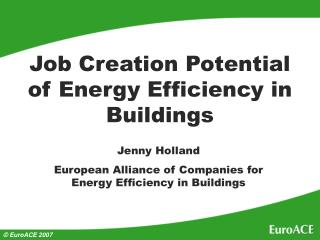 Job Creation Potential of Energy Efficiency in Buildings