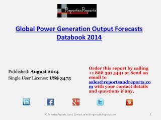 Power Generation Output Industry – Worldwide Trends, Strateg
