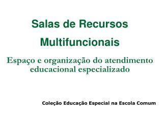 Salas de Recursos  Multifuncionais Espaço e organização do atendimento educacional especializado