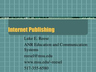 Internet Publishing