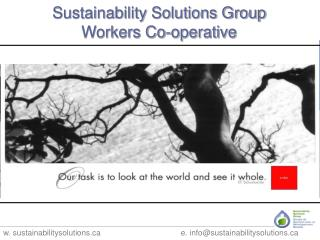 Sustainability Solutions Group  Workers Co-operative