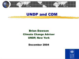 UNDP and CDM