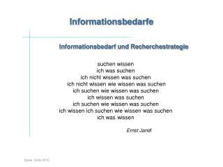Informationsbedarfe