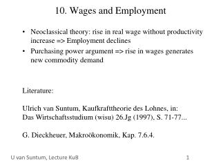 10. Wages and Employment