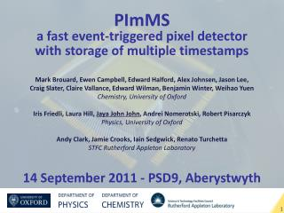 PImMS a fast event-triggered pixel detector  with storage of multiple timestamps