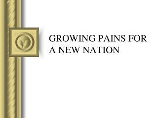 GROWING PAINS FOR A NEW NATION