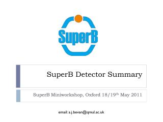 SuperB Detector  Summary