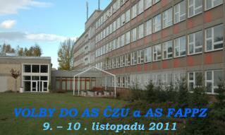 VOLBY DO AS ČZU a AS FAPPZ 9. – 10 . listopadu 2011