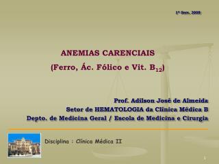 Disciplina : Clínica Médica II
