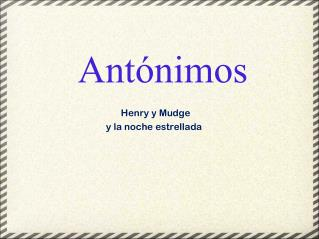 Ant�nimos