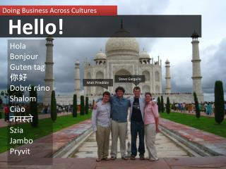 Doing Business Across Cultures