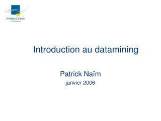 Introduction au datamining