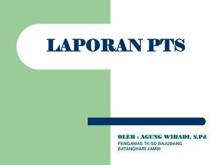 LAPORAN PTS